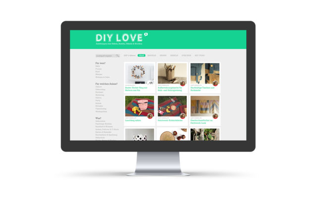 "Webdesign & WordPress-Support für ""DIY Love"""