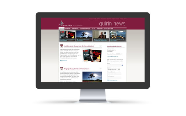 "Webdesign & Wordpress-Support für ""Quirin Bank"""