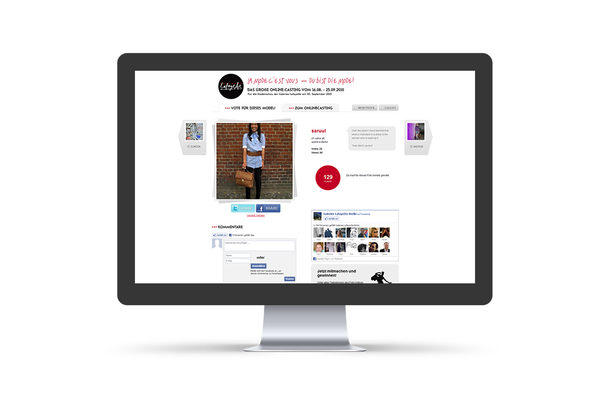 Webdesign & WordPress-Support für Galeries Lafayette