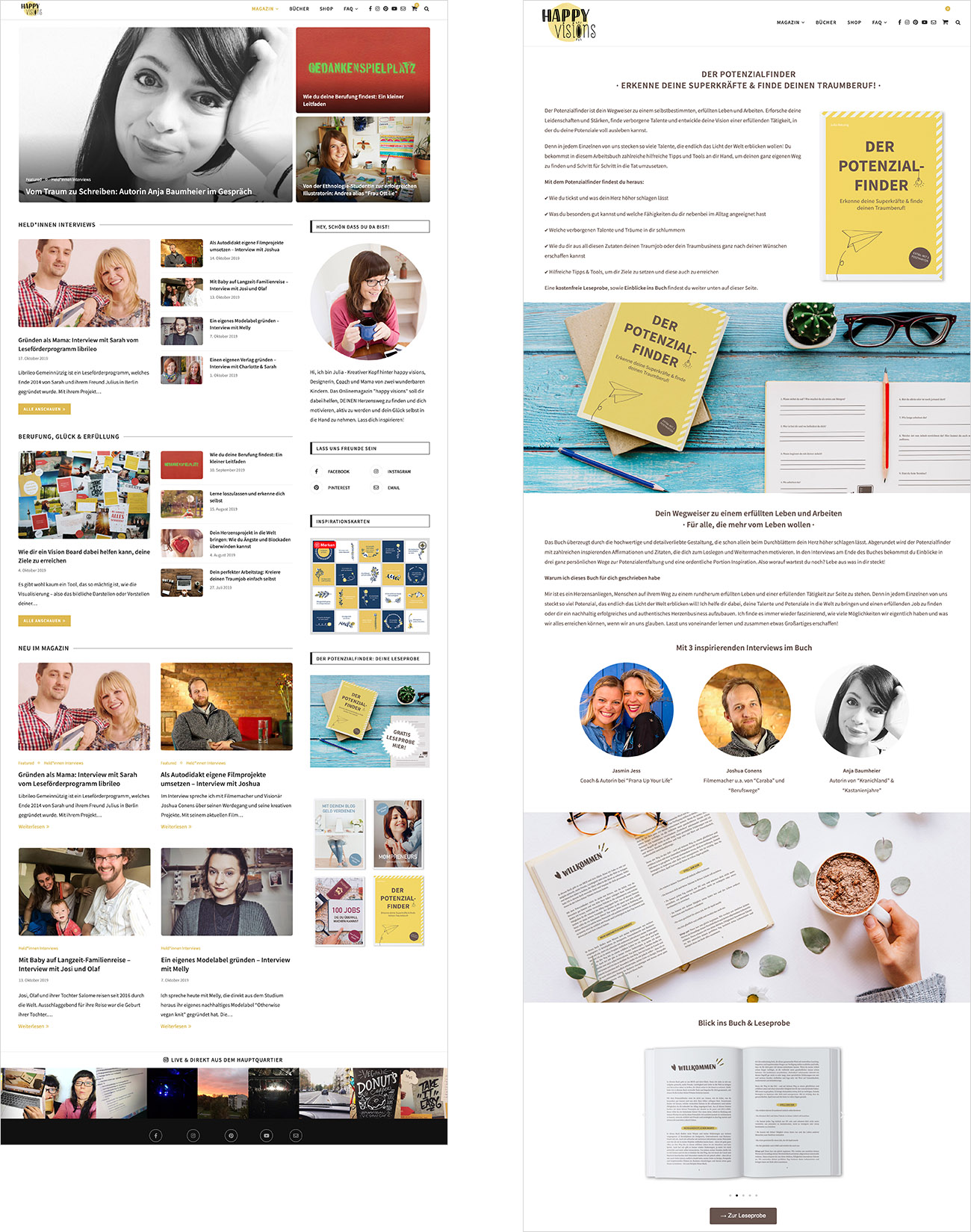 "Webdesign & WordPress-Support Magazin ""happy visions"""