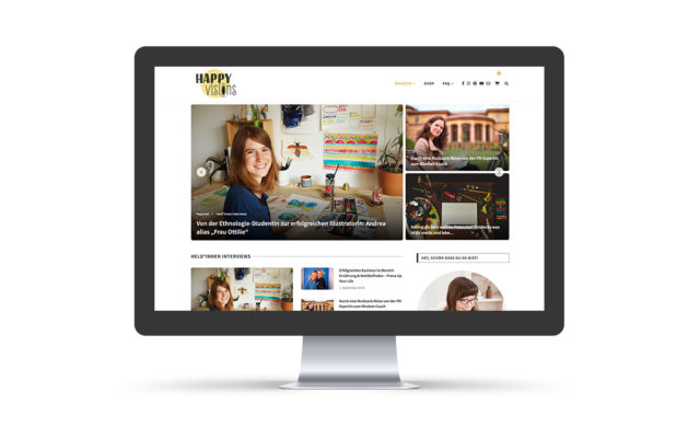 "Webdesign ""happy visions"""