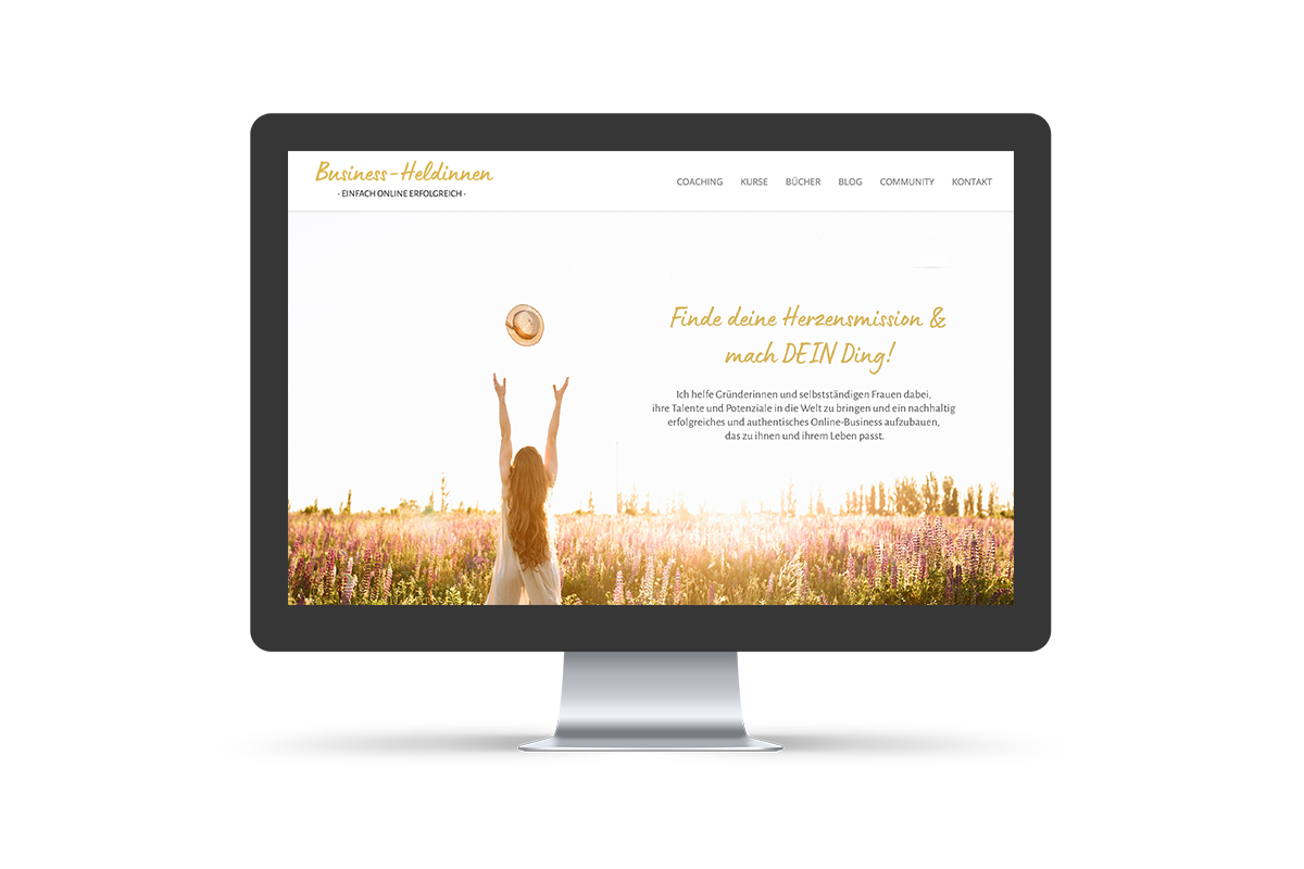 Webdesign & WordPress-Support für Business-Heldinnen