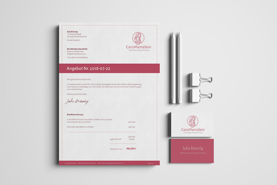Corporate Design: GanzMamaSein