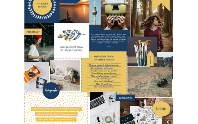 Vision Board Layout-Set (Digital & Print)