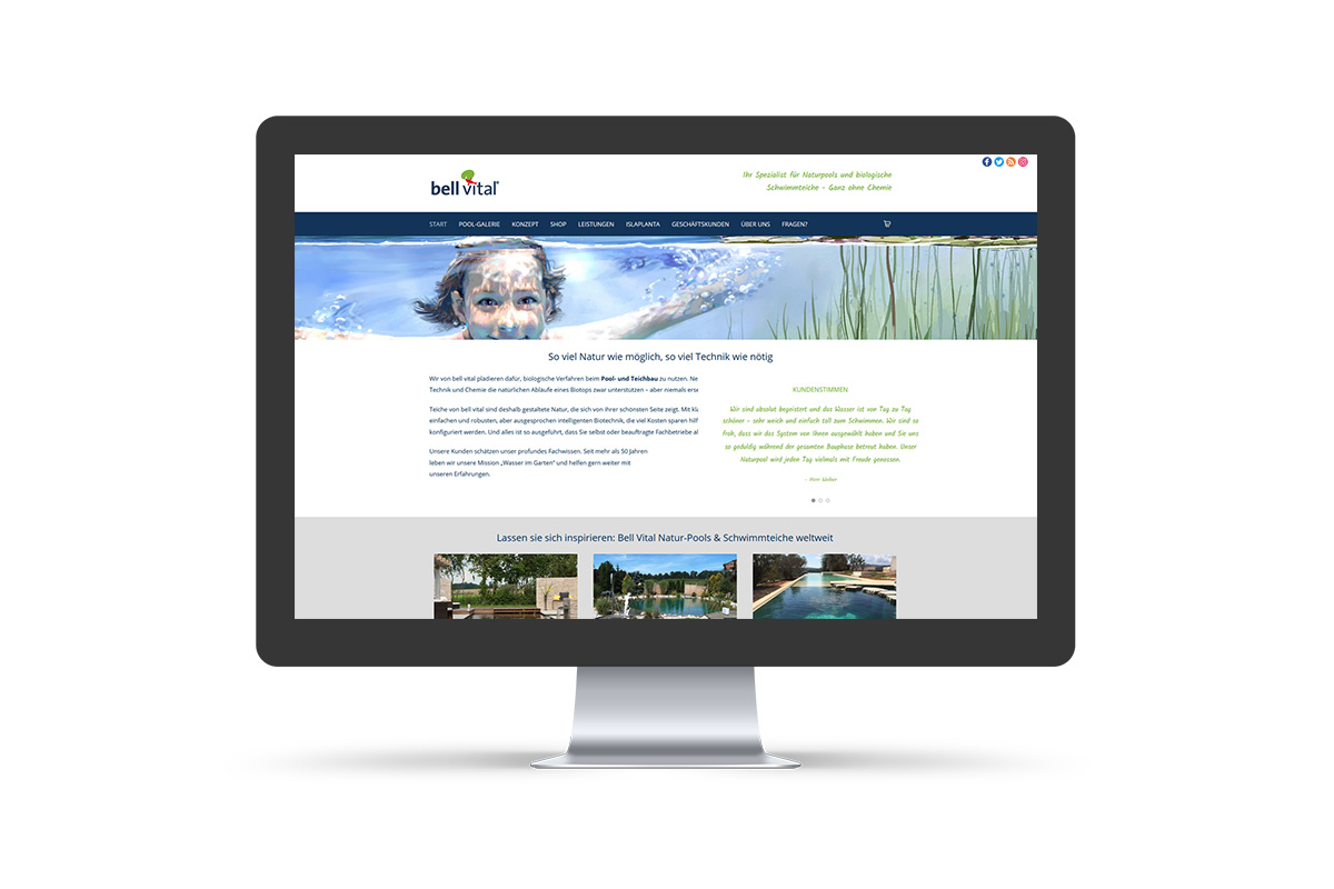 "Webdesign & WordPress-Support inkl. Shop ""bell vital"""