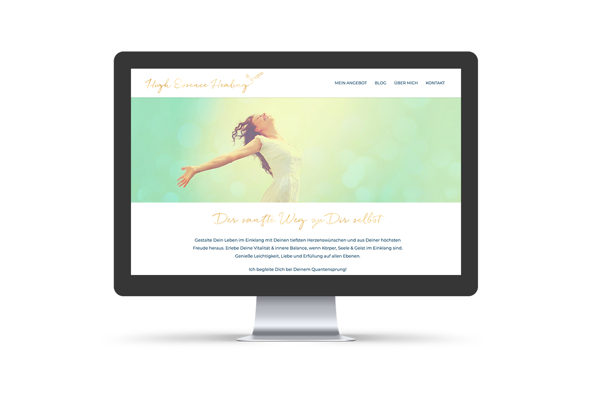 Webdesign & WordPress-Support für High Essence Healing